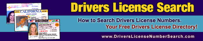 drivers license number search directory and tools